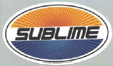 Sublime Vinyl Sticker Oval Letters Logo