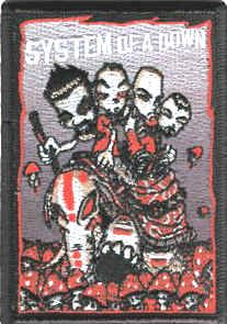 System of a Down Iron-On Patch Mushrooms Logo