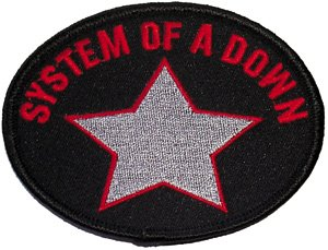 System of a Down Iron-On Patch Oval Star Logo