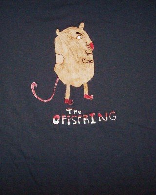 Offspring T-Shirt Mole Logo Gray Size XL