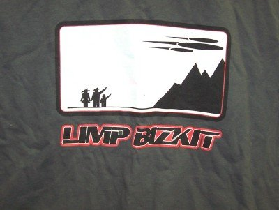 Limp Bizkit T-Shirt Space Ship Gray Size XL