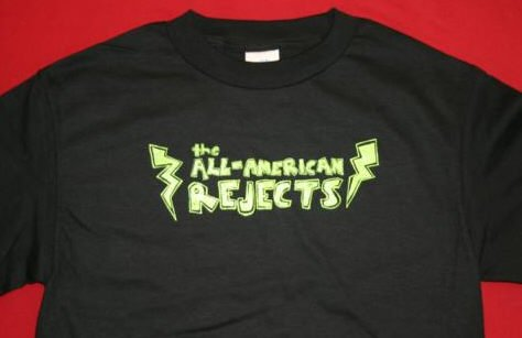 All-American Rejects T-Shirt Bolt Logo Black Size Medium