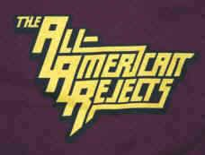 All-American Rejects T-Shirt Stacked Logo Maroon Size XL