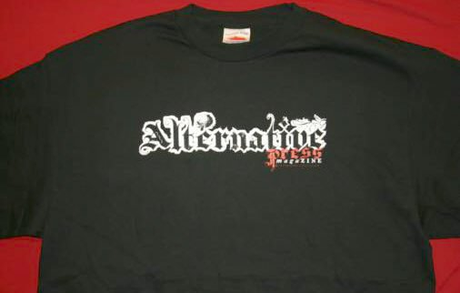 Alternative Press T-Shirt Gothic Logo Black Size XL
