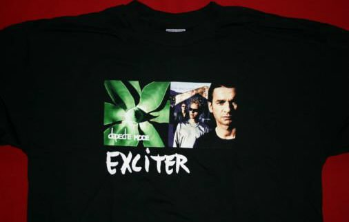 Depeche Mode T-Shirt Exciter Black Size Medium