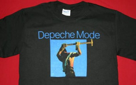 Depeche Mode T-Shirt Construction Time Black Size Small