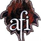 AFI Iron-On Patch Flame Rose Logo