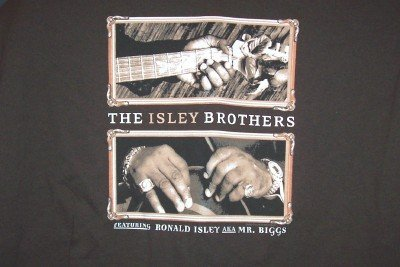 Isley Brothers T-Shirt Hands Logo Brown Size Large