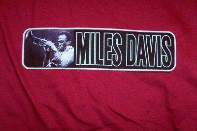 Miles Davis T-Shirt Jazz Trumpet Maroon Size XXL