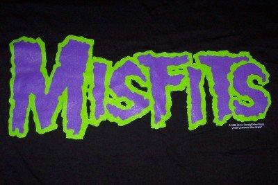 Misfits T-Shirt Letters Logo Black Size XL