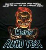 Misfits T-Shirt Fiend Fest Black Size Small