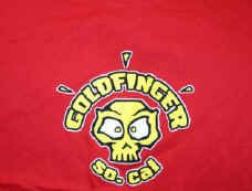 Goldfinger T-Shirt So. Cal Skull Logo Red Size XL