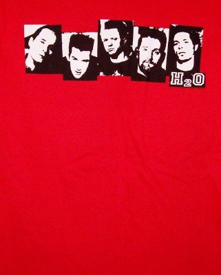 H2O T-Shirt Band Photos Red Size Medium