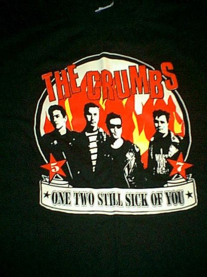The Crumbs T-Shirt Sick of You Lookout Records Black Size XL
