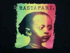 Rastafari T-Shirt Prince Zion Rootswear Black Size Large