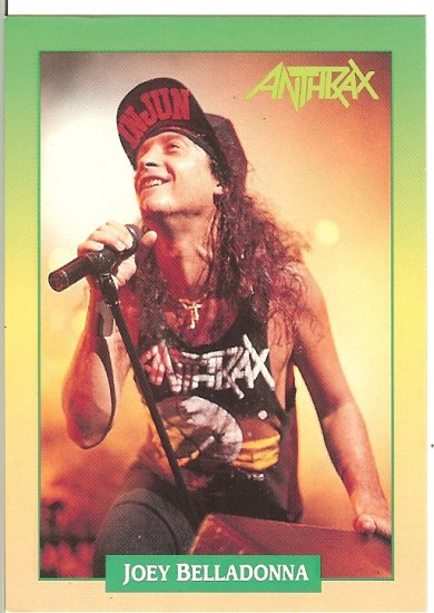 Anthrax Joey Belladonna Trading Card - Brockum RockCards