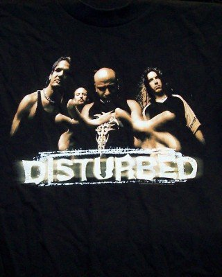 Disturbed T-Shirt Group Photo Black Size Large