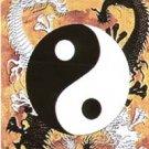 Yin Yang Dragons Vinyl Sticker