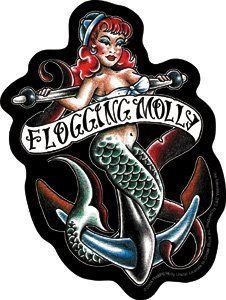Flogging Molly Vinyl Sticker Mermaid Logo