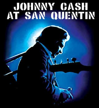 Johnny Cash Vinyl Sticker San Quentin Logo