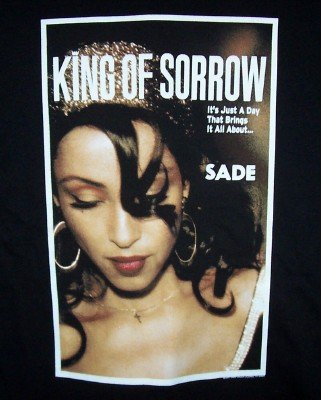 Sade King of Sorrow T-Shirt Black Size XXL Vintage Holes
