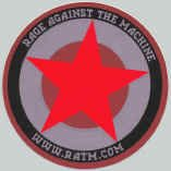 Rage Against the Machine Vinyl Sticker Star Circle
