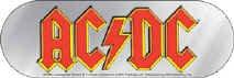 AC/DC Vinyl Sticker Oval Letters Logo