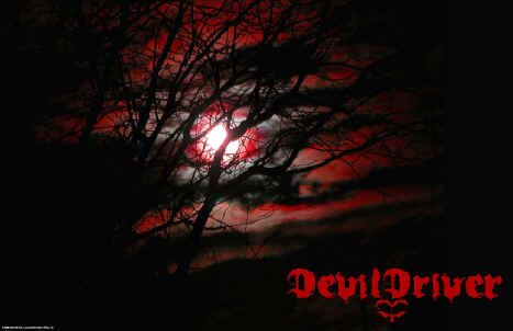 Devil Driver Poster Flag Moon Fire Logo Tapestry