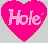 Hole Vinyl Sticker Heart Logo Courtney Love