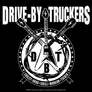 Drive-By Truckers Vinyl Sticker Guitar Logo