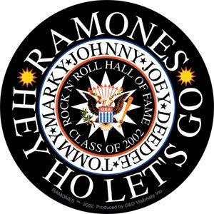 Ramones Vinyl Sticker Hey Ho Let's Go Logo