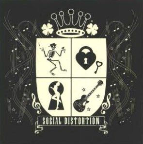 Social Distortion Vinyl Sticker Crest Logo