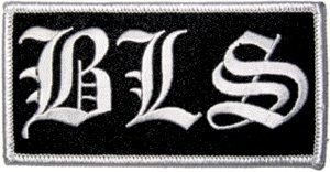 Black Label Society Iron-On Patch BLS Letters Logo