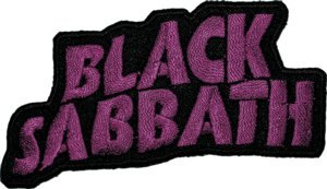 Black Sabbath Iron-On Patch Purple Letters Logo