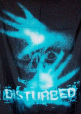 Disturbed Poster Flag Tormented Hands Logo Tapestry
