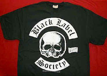 Black Label Society T-Shirt Skull BLS Logo Black Size XL