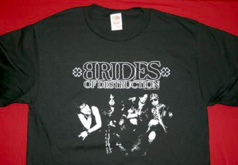Brides of Destruction T-Shirt Destroy Logo Black Size Medium