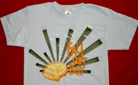 Fall Out Boy T-Shirt Van Logo Blue Size XL