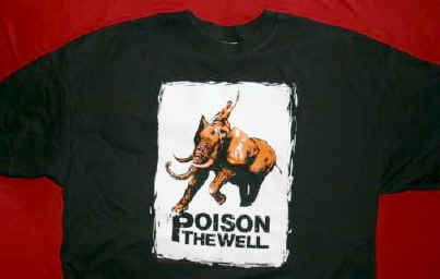 Poison the Well T-Shirt Elephant Logo Black Size XL