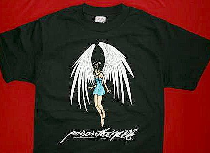 Poison the Well T-Shirt Angel Logo Black Size Small