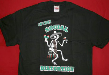 Social Distortion T-Shirt Viva Skellie Black Size Medium