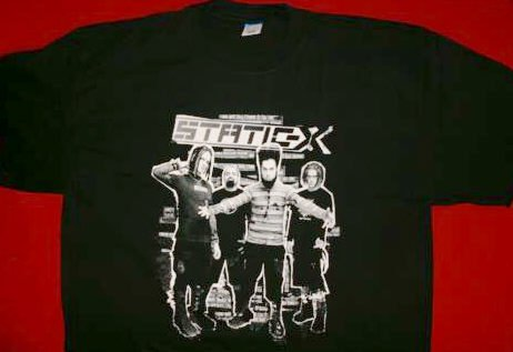 Static-X T-Shirt Destroy All Black Size Medium