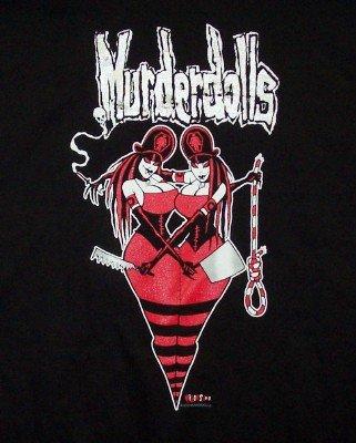 Murderdolls T-Shirt Twins Logo Black Size XL