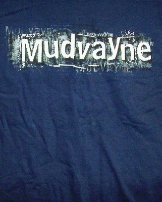 Mudvayne T-Shirt Everything Logo Navy Blue Size XL