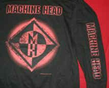 Machine Head Long Sleeve T-Shirt Burning Red Black Size XL