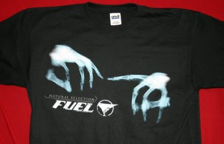 Fuel T-Shirt Natural Selection Black Size XL