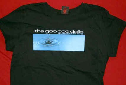 Goo Goo Dolls T-Shirt New Year's Eve Black Size Medium