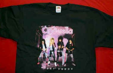 Cinderella T-Shirt Night Songs Black Size Large