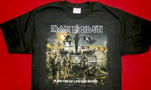 Iron Maiden T-Shirt Tank Logo Black Size Large