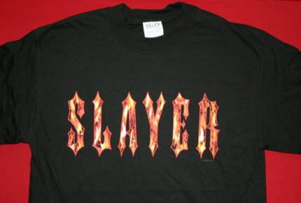 Slayer T-Shirt Eternal Flame Logo Black Size Large